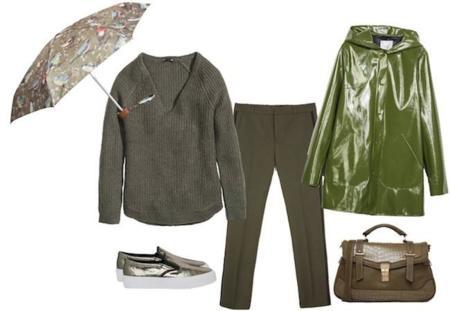 Outfit Lluvia Khaki