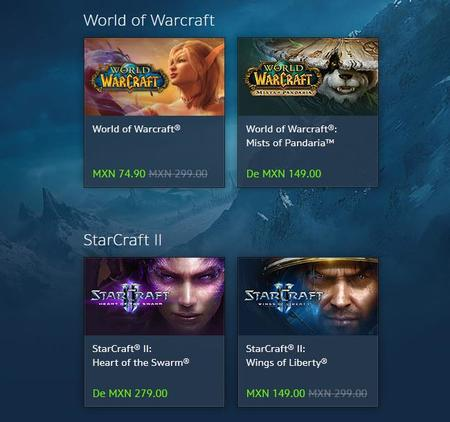 Starcraft II y World of Warcraft en oferta