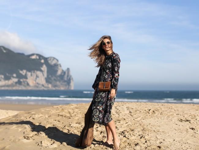 Clochet Streetstyle Zara Flowers Midi Dress 3