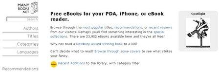 Many Books, libros electrónicos gratis