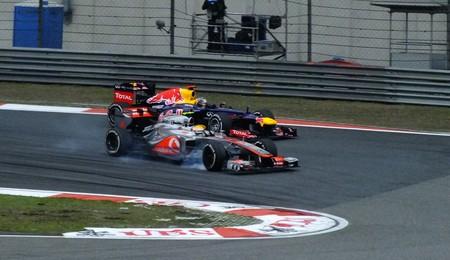 Hamilton Vettel China F1 2012