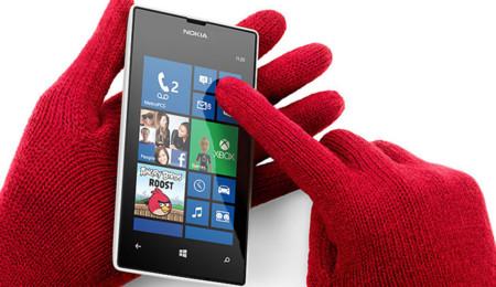 Usando un Nokia 520 con guantes