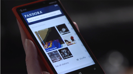 Pandora llega a Windows Phone 8