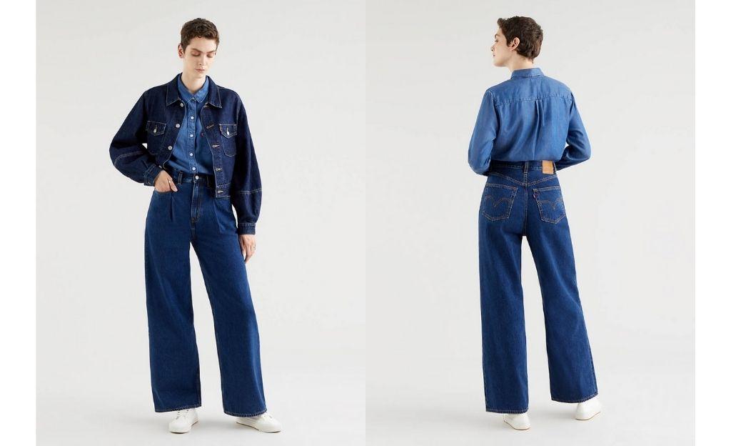 Vaquero Tailor High Loose Jean en lavado oscuro