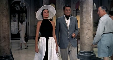 To Catch A Thief Grace Kelly Cary Grant Black Beach Wear Front Skullcap Bmp