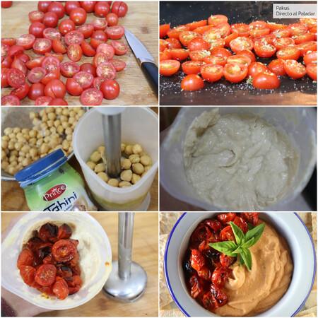 Hummus Tomates Cherry Pakus Pasos