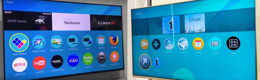 Comparación de software de smart TVs Panasonic