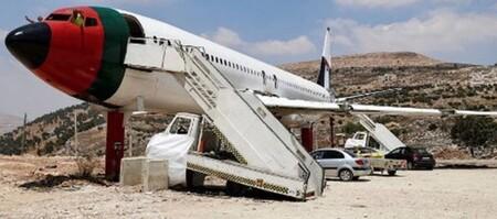 Un avión israelí terminó siendo un restaurante en Cisjordania