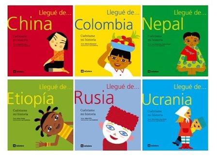 """""""Llegué de..."""", libros infantiles sobre la adopción"""
