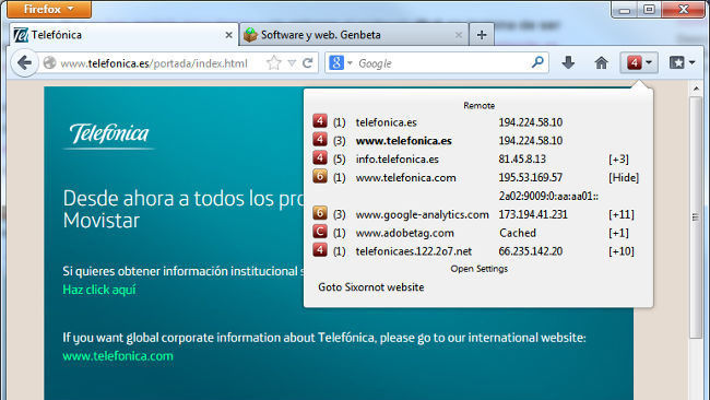 Soporte IPv6 Telefónica