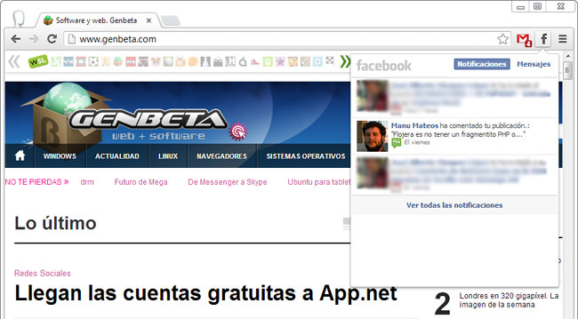 Facebook Notificacions para Chrome