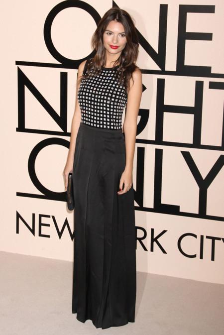 Emily Ratajowski en la fiesta One Night Only de Giorgio Armani en Nueva York, Octubre 2013