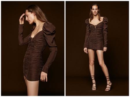 Vestido Drapeado Zara Copia