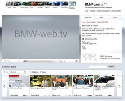 BMW lanza su propio canal de vídeos