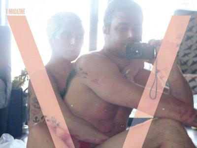 Lady Gaga y Taylor Kinney posan en pelota picada en V Magazine