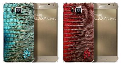 Samsung Galaxy Alpha presenta edición especial, con acabados en piel de cocodrilo