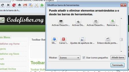 Personaliza la barra de herramientas de Firefox con Toolbar Buttons