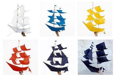 Cometa con forma de barco para navegar por las nubes
