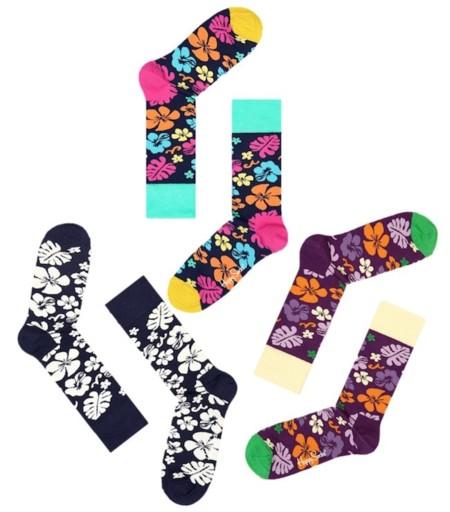 calcetines flores happy socks