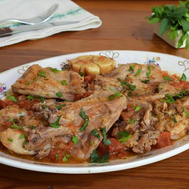 Conejo estofado al estilo de Isquia: receta italiana para ir preparando el otoño