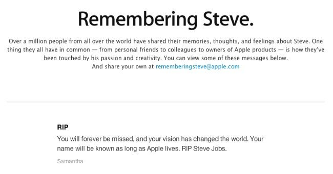 steve jobs apple web homenaje