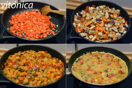 Tortilla de Verduras. Pasos