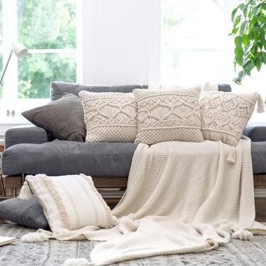 17 cojines para el sofá, para renovar tu salón de forma sencilla