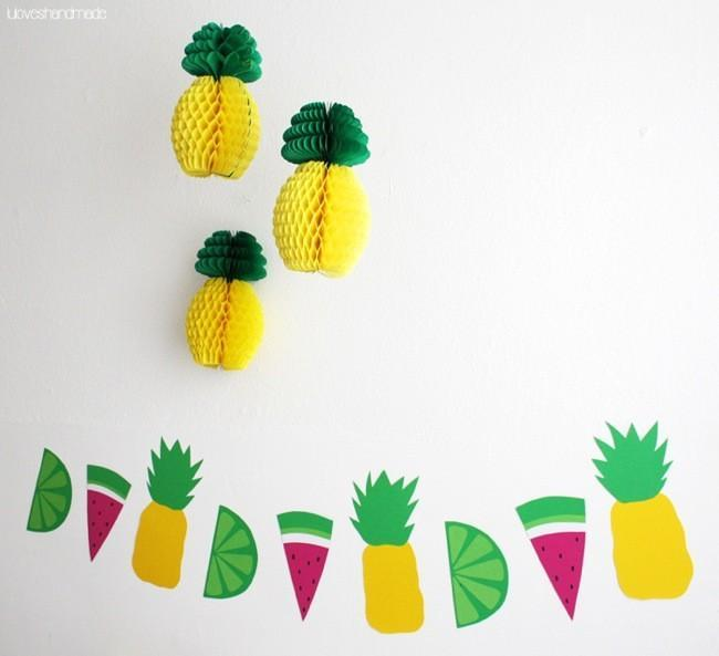 La decoraci n tropical se impone este verano 11 ideas - Decoracion con pina ...