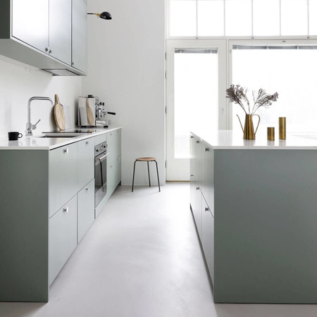 A S Helsingo Ingaro Water Green Kitchen With Parasol Handles 0
