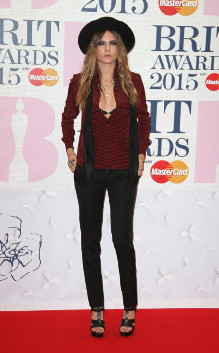 Cara Delevingne Brit Awards 2015
