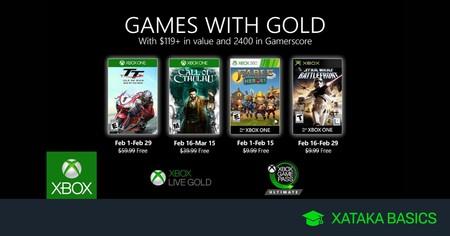 Juegos de Xbox Gold gratis para Xbox One y 360 de febrero 2020