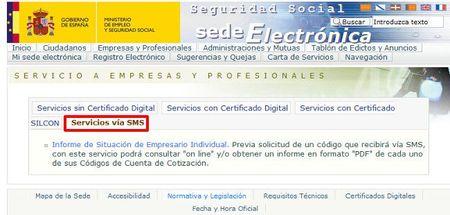 La seguridad social empieza a emitir certificados para las empresas vía SMS