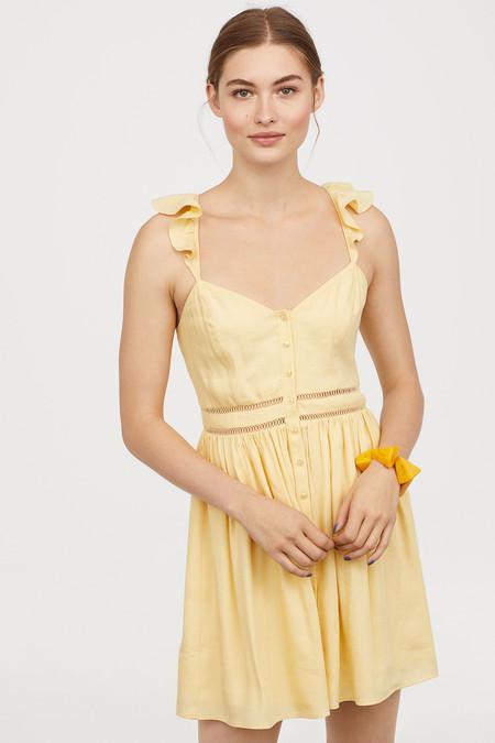 Vestido Amarillo Pastel