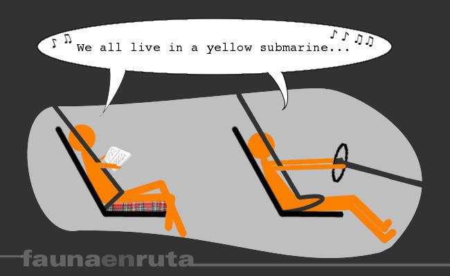fauna en ruta - efecto submarino