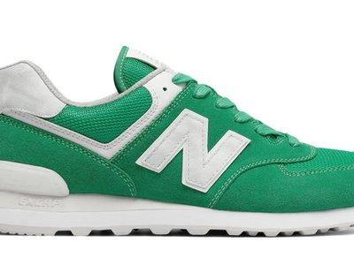 Verde jade para el gran clásico de nuestro tiempo: zapatilla 574 de New Balance