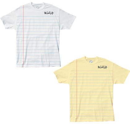 Camiseta hoja de cuaderno