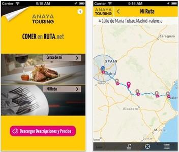 Aplicaciones viajeras: ComerEnRuta.net