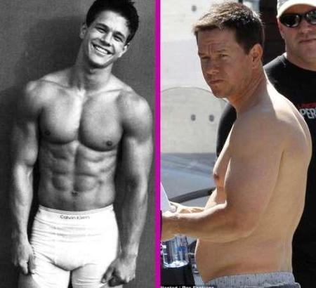 Mark Wahlberg en forma... porque redondo es una forma