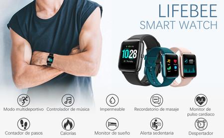 El smartwatch más vendido de Amazon en oferta hoy e incluso puedes elegir color: llévatelo por sólo 33,99 euros y envío gratis