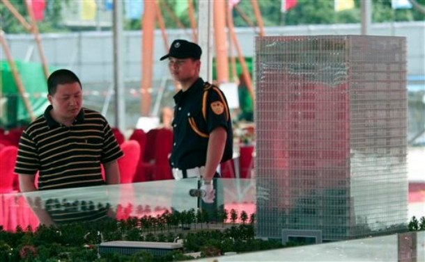 Maqueta de los nuevos cuarteles generales de Foxconn en Shanghai