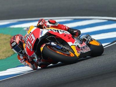 Marc Márquez domina en Buriram el segundo día de test, con y sin la nueva aerodinámica