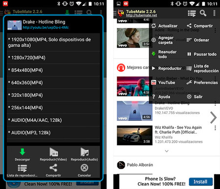 aplicacion android para descargar videos de youtube en mp3
