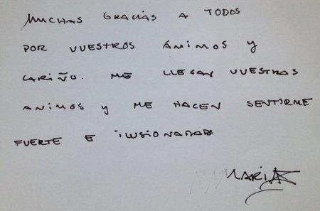 María de Villota ya se recupera en España