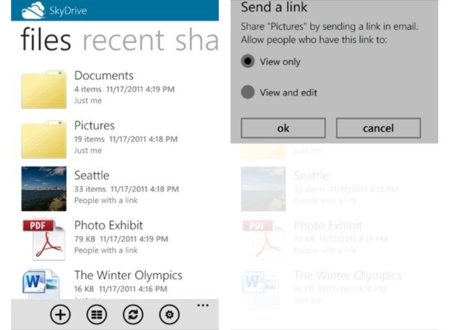 Microsoft SkyDrive para iPhone y Windows Phone