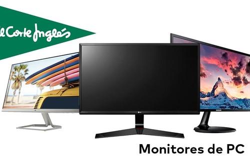 Monitores MSI, HP Samsung o LG en oferta en El Corte Inglés con entrega en un día o recogida Click&Car