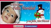 Postales navideñas con la foto del bebé