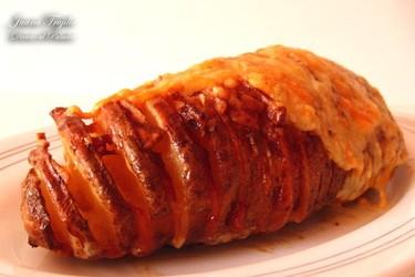 Patatas Hasselback gratinadas. Receta
