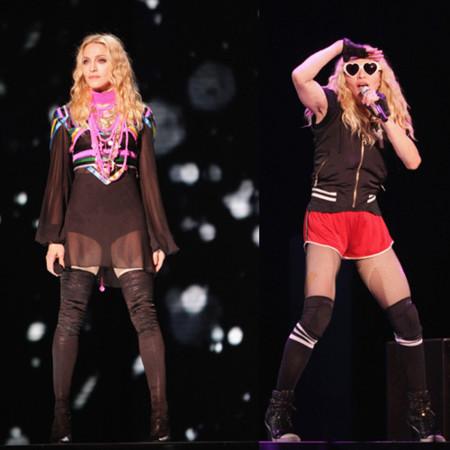 Los looks de Madonna en el primer concierto de su gira