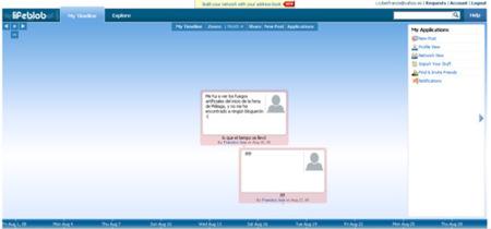 Lifeblob, diario personal online en formato de línea de tiempos