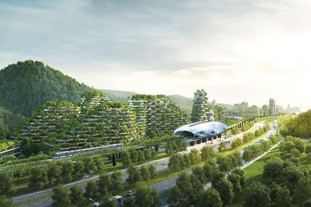 Esta ciudad ecológica en China está completamente cubierta de árboles